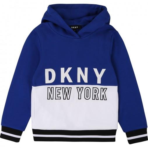 Sudadera azul niño DKNY
