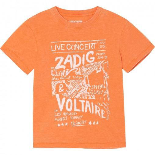 Camiseta naranja 'Live...