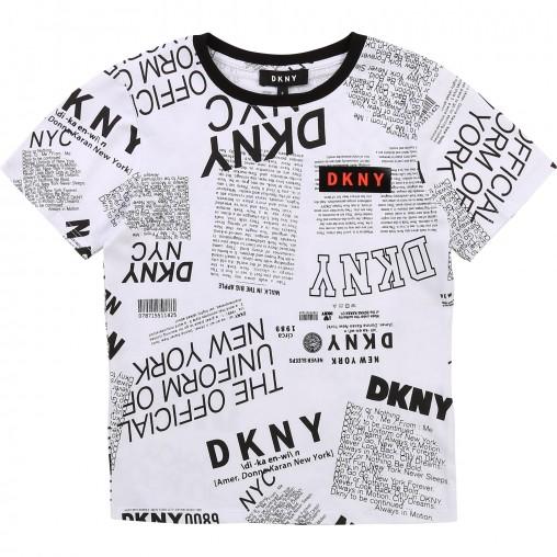 Camiseta newspaper niño DKNY