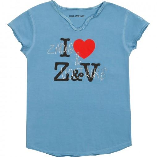 Camiseta azul Zadig