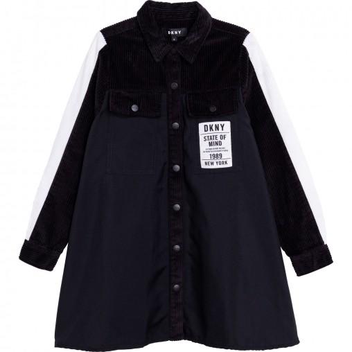 Vestido combinado niña DKNY