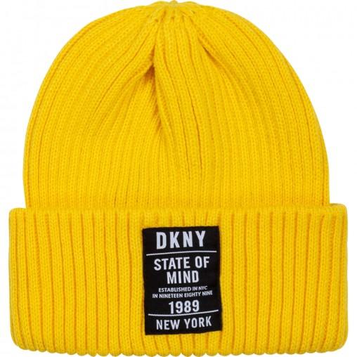Gorro amarillo DKNY