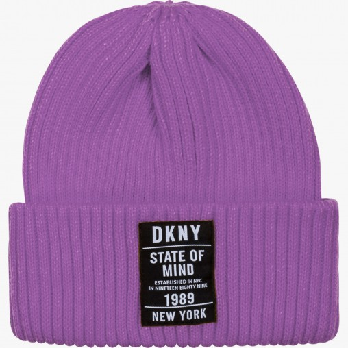Gorro lila DKNY