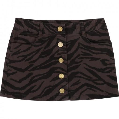 Falda estampado zebra -...