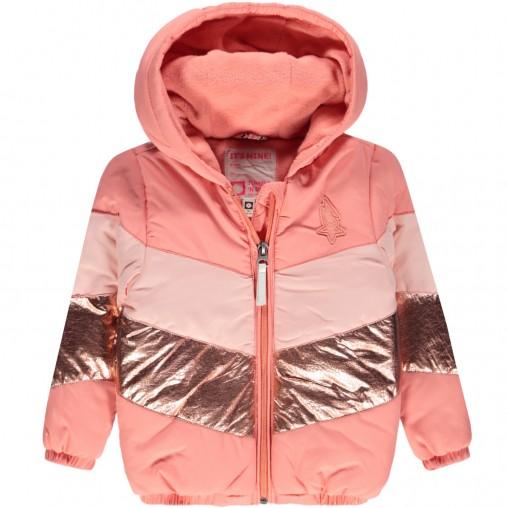 Abrigo en tonos rosa...