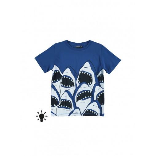 Camiseta flúor de tiburones...