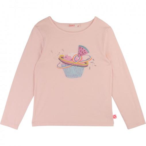 Camiseta rosa muffin con...